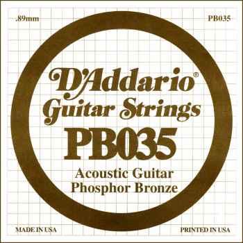 D´addario PB035 Cuerda Suelta para Guitarra Acústica