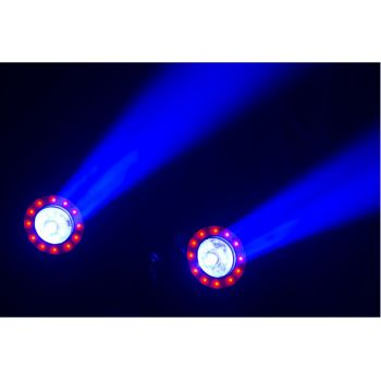 Beamz Illusion 1 LED Beam con anillo de LED 150466