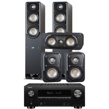 DENON AVR-X3500+S531,Polk audio S50e+S30e+S10e Conjunto Home Cinema