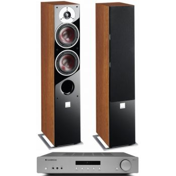 CAMBRIDGE AXA35+Zensor 5 Walnut conjunto audio
