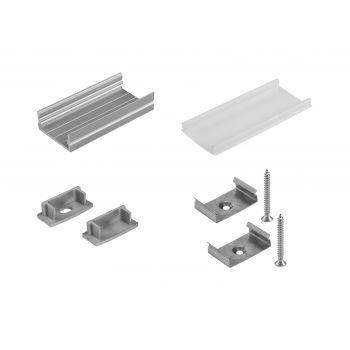 Eurolite Set de Montaje Perfil en U 20mm para tira LED