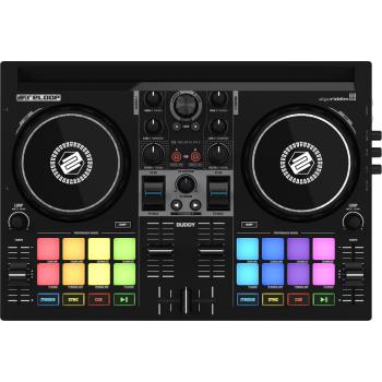 Reloop Buddy Controlador DJ Compacto de 2 Decks Para iOS, iPadOS, Android, Mac y PC