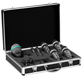 Akg DRUMSET CONCERT 1 Set Profesional de Microfonos para Bateria