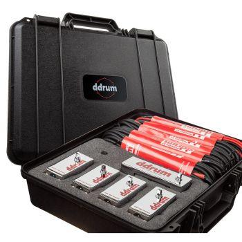 Ddrum CHROME ELITE TRIGGER PACK W/CASE & CABLES Kit de 5 Triggers para Batería CE-TOUR-PACK