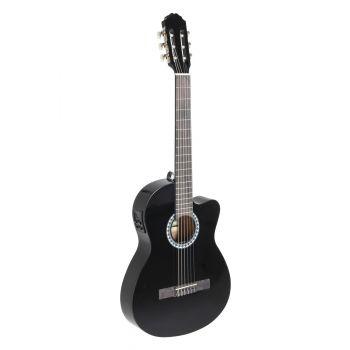 Gewa PS510396 Guitarra Clásica ElectroAcústica BasicPlus E-Acústica Negra.
