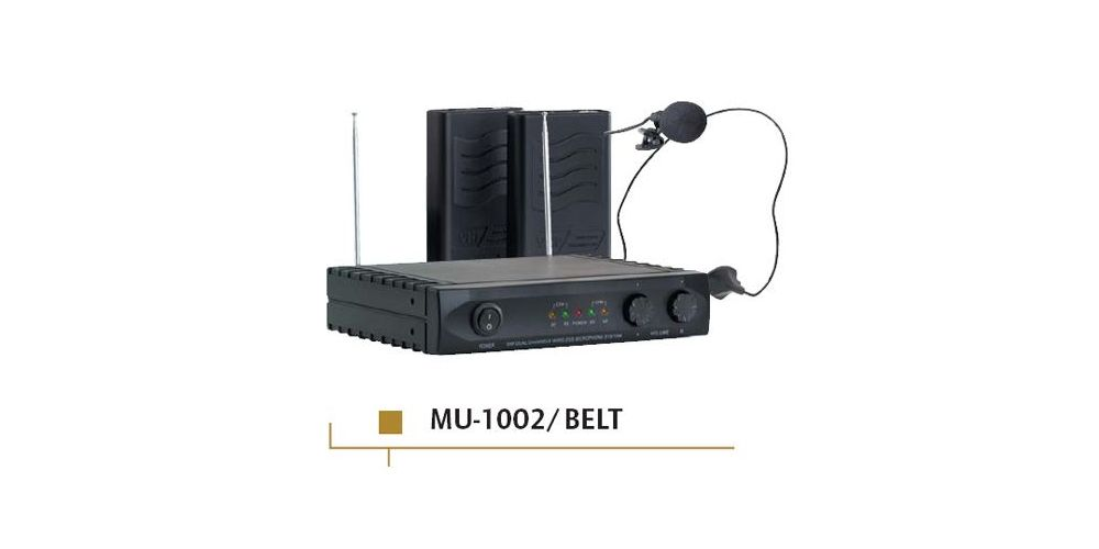 ACOUSTIC CONTROL MU-1002 BELT Microfono inalambrico doble + receptor