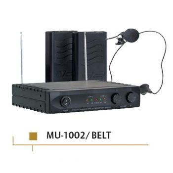 ACOUSTIC CONTROL MU-1002 BELT Microfono inalambrico doble + receptor ( REACONDICIONADO )