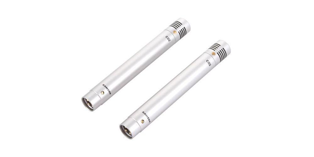 SAMSON C02-2 Maleta con 2 Microfonos Condensador  instrumentos