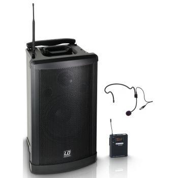 LD SYSTEMS Roadman 102 HS B 5 Altavoz de PA portátil con Micrófono de Diadema