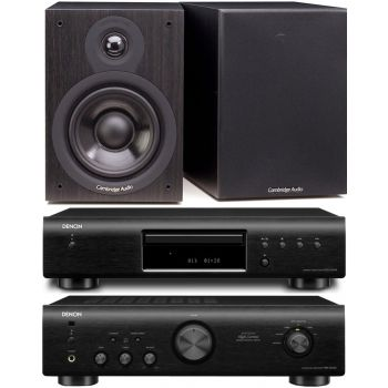DENON PMA-520-BK+DCD520-BK+Cambridge SX-50 Black