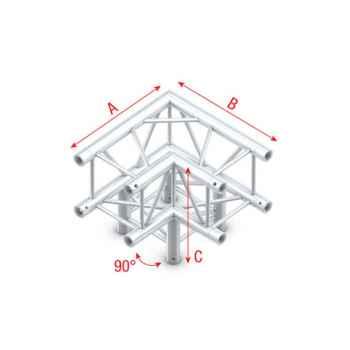 Showtec Corner 3-way 90 Esquina Cuadrada 3 Direcciones GQ30012