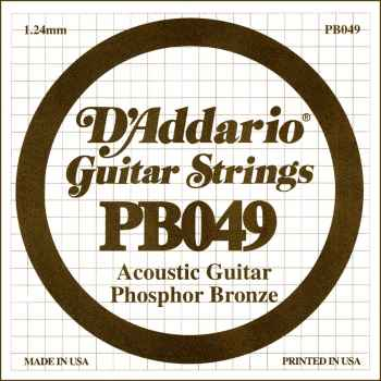D´addario PB049 Cuerda Suelta para Guitarra Acústica