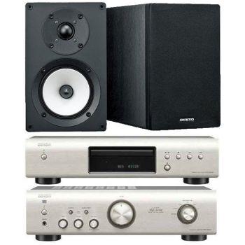 DENON PMA-520 Si+DCD520 SI+Onkyo D055  Conjunto audio