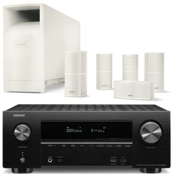 DENON AVR-X2500 Bose AM-10V WH Conjunto Home Cinema