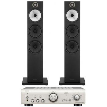 Denon PMA-800AE Silver+BW 603 Black Conjunto Audio