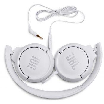 JBL T500 Blanco Auricular On Ear HiFi Tune 500