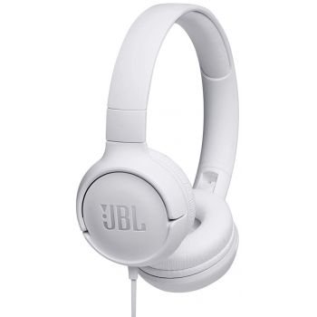 JBL T500 Blanco Auricular On Ear HiFi Tune 500