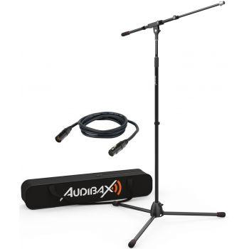 Audibax AYRA MS-10 Plus Soporte Jirafa Profesional para Micrófono con Bolsa y Cable 3m