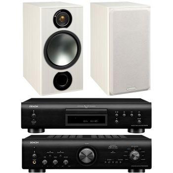 Denon PMA-800AE Black+DCD800 Black+Monitor Audio Bronze 2 White conjunto sonido