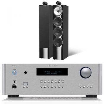 ROTEL RA-1592 Silver+Bower Wilkins 702 bk Conjunto audio