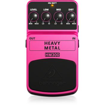 BEHRINGER HM300 Pedal  Guitarra Efecto Heavy Metal Behringer HM-300