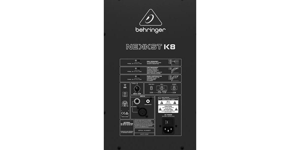 K8 behringer back details