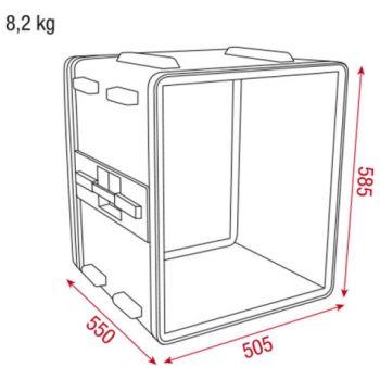D7106 double door case dimensiones