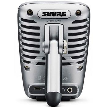 SHURE MV 51/A Micrófono Digital Gran diafragma. Certificación Apple MFi