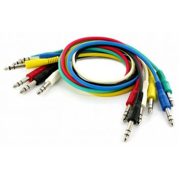 Audibax Basic Colour Cable Patch Jack Stereo a Jack Stereo 6 Und 60cm