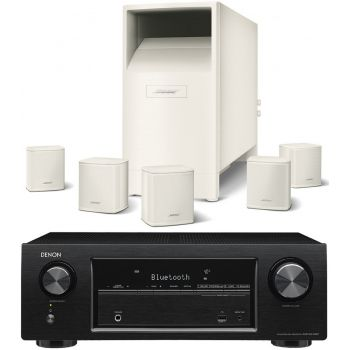 DENON AVR-X540 BK+BOSE AM6 V Blanco