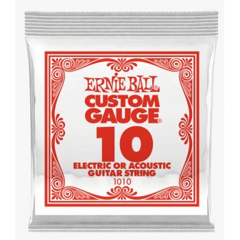 Ernie Ball 1010 Slinky Plana Cuerda Para Guitarra Electrica 0.10