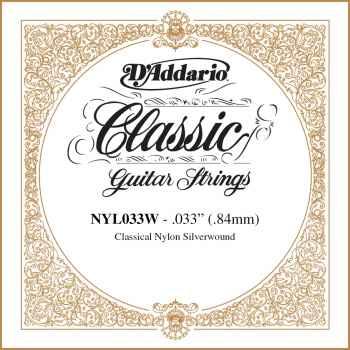 D´addario NYL033W Cuerda Suelta para Guitarra Española