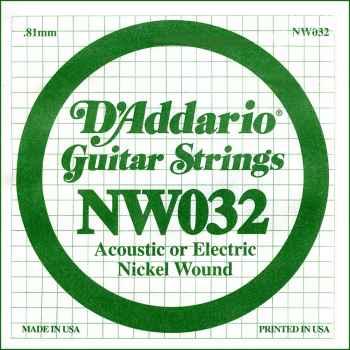 D´addario NW032 Cuerda Suelta para Guitarra Eléctrica