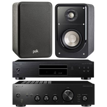 Pioneer A-10AEK + PD-10AE-K + Polk Audio S-15 BK Conjunto Audio