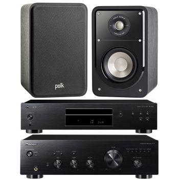 Pioneer A-10K + PD-10AE-K + Polk Audio S-15 BK Conjunto Audio