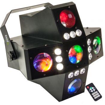 Ibiza Light CROSS GOBOFX Efecto de Iluminación 2 en 1 RGBA