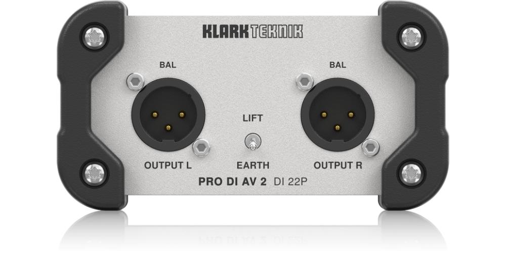 klark teknik DI 22Pcaja di stereo pasiva conexiones