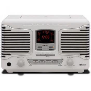 TEAC SL-D800 BT W Micro Cadena Retro, BLANCO