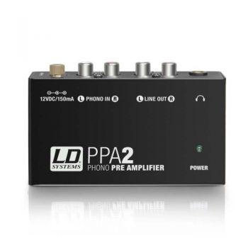 LD SYSTEMS PPA2 Preamplificador y ecualizador RIAA para tocadiscos