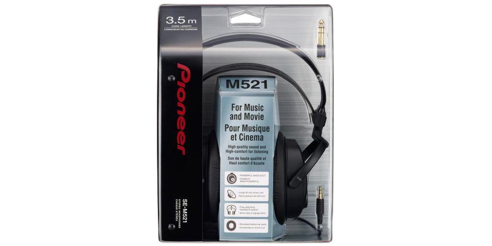 pioneer se m521 auricular cerrado estereo 3,5m cable