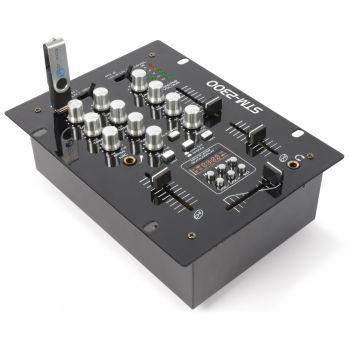 Vonyx STM-2300 Mezclador de 2 canales USB/MP3 172740 By-Skytec