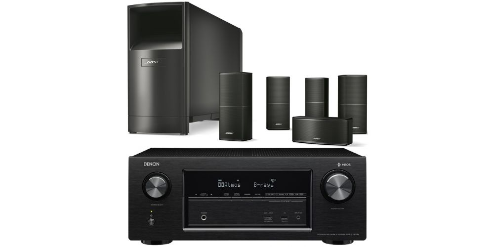 denon avrx2400 bose am10 v black
