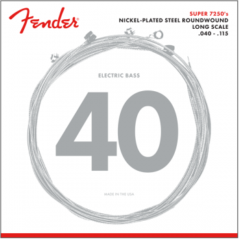 Fender 7250 Bass Cuerdas de Niquel Plateadas 7250-5L .040-.115