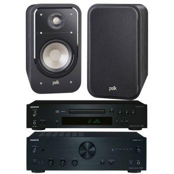 Onkyo A9030K+C7030K+Polk Audio S20 Conjunto audio