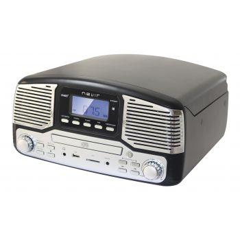 NEVIR NVR-812 VCDMUC Tocadiscos Retro Black ( REACONDICIONADO )