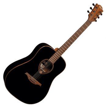 LAG T118D-BLK Guitarra Acústica Formato Dreadnought Serie Tramontanr Acabado Negro Satinado