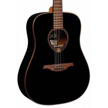 LAG T118D-BLK Guitarra Acústica Formato Dreadnought Serie Tramontana Acabado Negro Satinado *