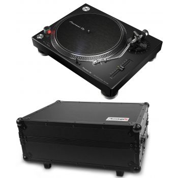 PIONEER PLX 500 Negro Giradiscos Dj + Flight Case PRO-TURN