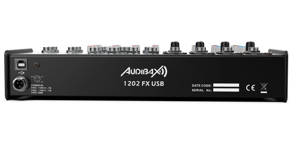audibax 1202 fx usb audibax 1202 fx usb mesa mezclas rear