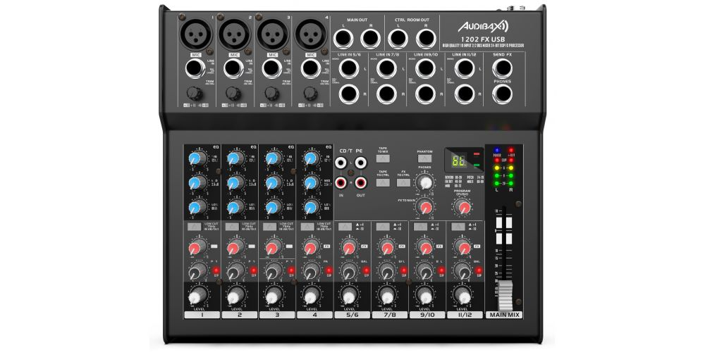 audibax 1202 fx usb mesa mezclas